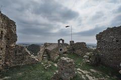 Castillo de Palafolls de las ruinas Fotos de archivo