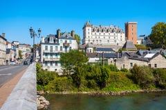 Castillo de Pau del castillo francés, Francia imagen de archivo
