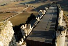Castillo de Peñafiel en Valladolid, España imagen de archivo