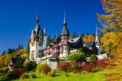 Castillo de Peles, Rumania Fotos de archivo