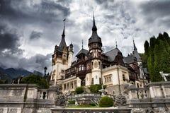 Castillo de Peles, Sinaia, Rumania fotografía de archivo libre de regalías