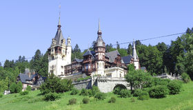 Castillo de Peles, Sinaia, Transilvania, Rumania Imagenes de archivo