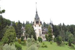 Castillo de Pelesh - la residencia rumana del verano del ` s del rey imagen de archivo