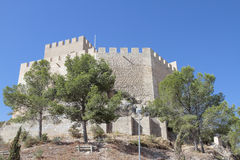 Castillo de Petrer Imagen de archivo libre de regalías