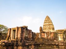 Castillo de piedra antiguo, Phimai Tailandia Fotografía de archivo
