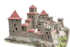 Castillo de piedra con las torres Imagen de archivo