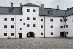 Castillo de piedra medieval en Turku, yarda interna Foto de archivo libre de regalías