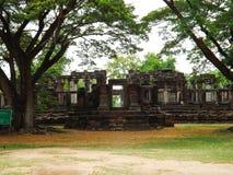 Castillo de piedra de Phimai, Tailandia Foto de archivo