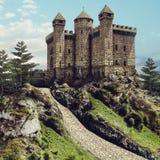 Castillo de piedra viejo libre illustration