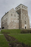 Castillo de piedra viejo en Turku Imagen de archivo