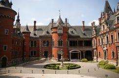 Castillo de Plawniowice Foto de archivo libre de regalías