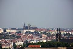 Castillo de Praga con Vysehrad Castillo famoso en República Checa Fotografía de archivo