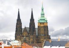 Castillo de Praga en invierno Fotografía de archivo libre de regalías