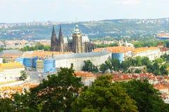 Castillo de Praga y catedral del St Vitus Imágenes de archivo libres de regalías