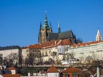 Castillo de Praga y catedral del St Vitus Imagen de archivo