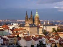 Castillo de Praga y catedral del St Vitus Foto de archivo
