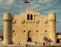 Castillo de Qaitbey Foto de archivo
