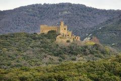 Castillo de Requesens en Cataluña, España Fotografía de archivo libre de regalías