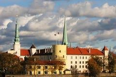 Castillo de Riga Imagen de archivo libre de regalías
