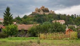Castillo de Rupea cerca de Brasov Rumania Imagen de archivo