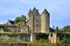 Castillo de Salignac en Francia Fotos de archivo