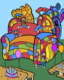 Castillo de salto del dragón Imagen de archivo