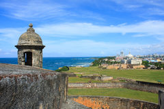 Castillo de San Cristóbal. San Juan, Puerto Rico. One of the lookouts towards the ocean at Castillo de San Cristóbal,San Juan Puerto Rico Stock Image