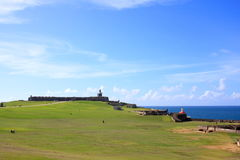 Castillo de San Cristóbal. San Juan, Puerto Rico. A View of fortress,  Castillo de San Cristóbal. San Juan, Puerto Rico Royalty Free Stock Images
