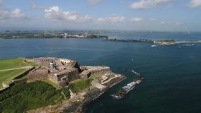 Castillo de SAN Cristobal στο νησί του Πουέρτο Ρίκο απόθεμα βίντεο