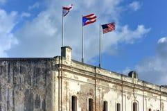 Castillo de San Cristobal - San Juan, Porto Rico Fotografie Stock
