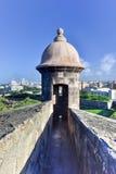 Castillo de San Cristobal - San Juan, Porto Rico Immagine Stock Libera da Diritti