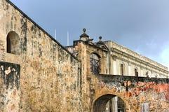 Castillo de San Cristobal - San Juan, Porto Rico Fotografia Stock