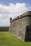 CASTILLO DE SAN FELIPE DEL MORRO, PORTO RICO, U.S.A. - 16 FEBBRAIO 2015: Torre sulla parete della fortezza Fotografia Stock