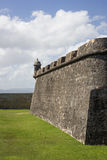 CASTILLO DE SAN FELIPE DEL MORRO, PUERTO RICO, DE V.S. - 16 FEBRUARI, 2015: Toren op Muur van Vesting Stock Foto
