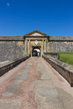 CASTILLO DE SAN FELIPE DEL MORRO, PUERTO RICO, USA - FEBRUARI 16, 2015: Ingång till fästningen Royaltyfri Fotografi
