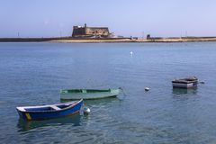 Castillo de SAN Gabriel σε Lanzarote Στοκ εικόνα με δικαίωμα ελεύθερης χρήσης