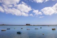 Castillo de SAN Gabriel σε Lanzarote Στοκ Φωτογραφίες