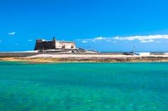 Castillo de San Gabriel, in Arrecife, Canary Islands stock images