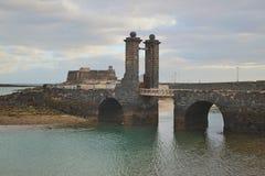 Castillo de San Gabriel in Arrecife, Lanzarote, Spain. Stock Photography