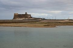 Castillo de San Gabriel in Arrecife, Lanzarote, Spain. Royalty Free Stock Photography