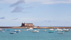 Castillo de San Gabriel. Is a 16th century fort in the Spanish port city of Arrecife. The fort is on the island of Lanzarote Stock Photo
