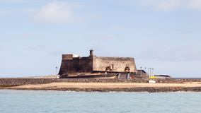 Castillo de San Gabriel. Is a 16th century fort in the Spanish port city of Arrecife.  The fort is on the island of Lanzarote Royalty Free Stock Image