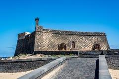 Castillo de San Gabriel - Saint Gabriel Castle in Arrecife Stock Image