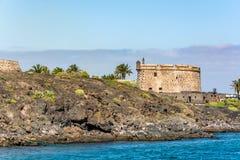Castillo de San Jose, slott av San Jose, Arrecife, Lanzarote, Spanien royaltyfri fotografi