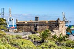 Castillo de San Jose, slott av San Jose, Arrecife, Lanzarote, Spanien arkivbild