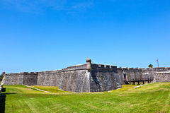 Castillo de San Marco - ancient fort in st. augustine florida Royalty Free Stock Images