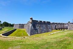 Castillo de San Marco - forntida fort i St Augustine Arkivfoton