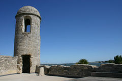 Castillo De San Marcos. Monument in St. Augustine Florida Royalty Free Stock Image
