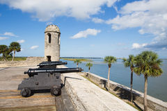 Castillo de San Marcos. Canons at Castillo de San Marcos, St. Augustine, Florida stock photos