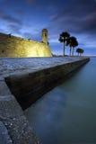 Castillo de San Marcos dans la rue Augustine, la Floride. image libre de droits